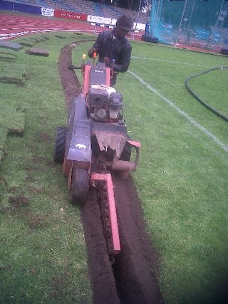irrigation trenching nmmu sportsfield